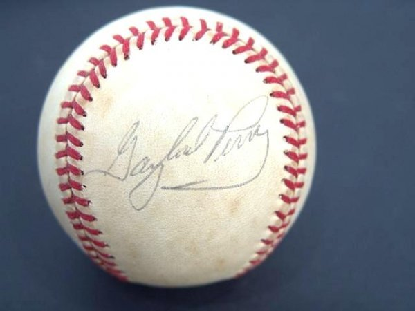 2019: HALL OF FAMER GAYLORD PERRY SIGNED BASEBALL