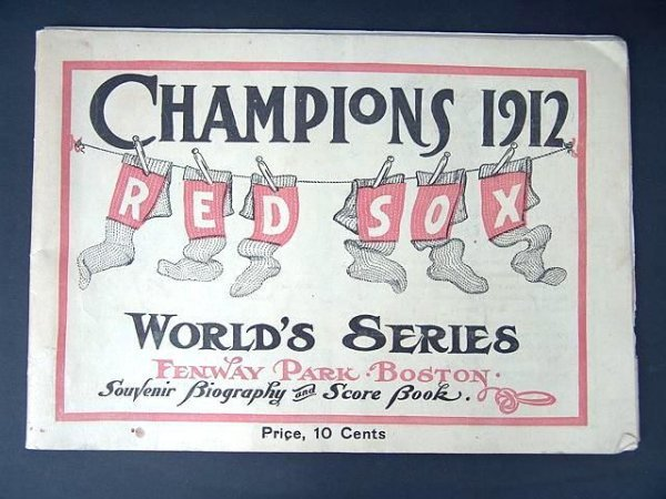 2027: 1912 BOSTON RED SOX WORLD SERIES SCORE BOOK