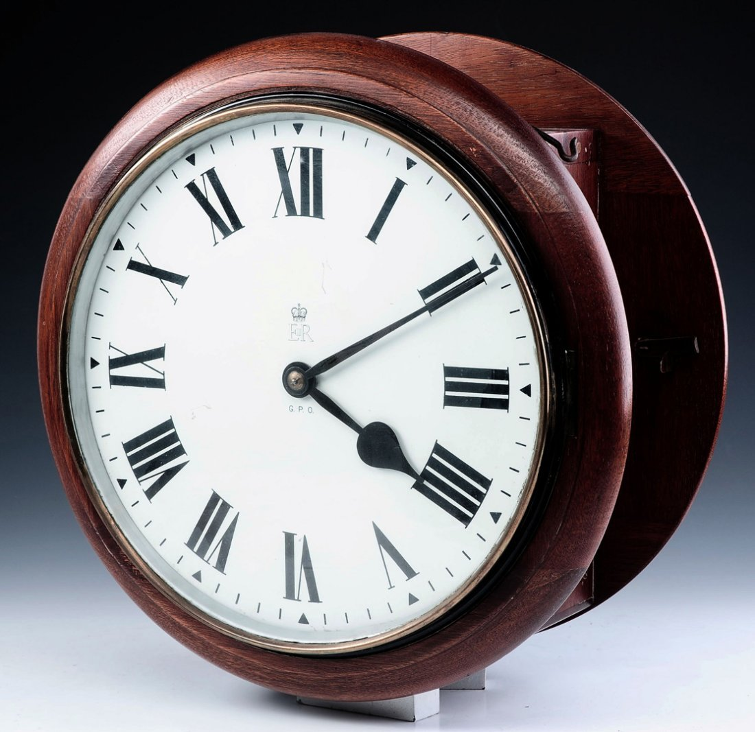 A RARE DOUBLE DIAL BRITISH GENERAL POST OFFICE CLOCK