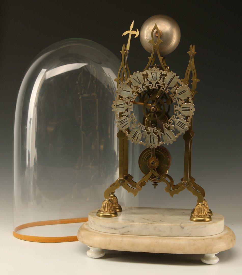 AN EARLY 19TH CENTURY ENGLISH SKELETON CLOCK