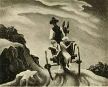 THOMAS HART BENTON 18891975 PENCIL SIGNED LITHOGRAPH