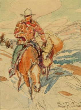 Philip Goodwin (1881-1935) Mixed Media On Paper