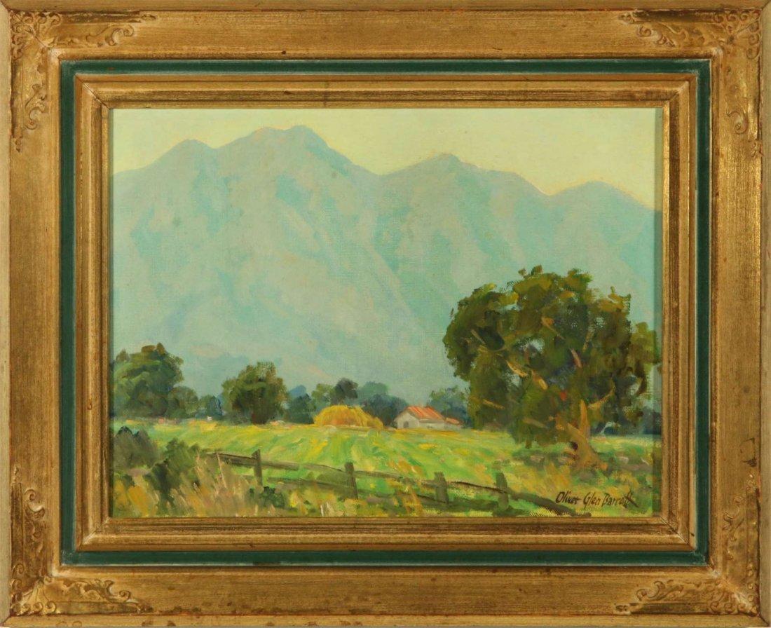 OLIVER GLEN BARRETT (1903-1970) CALIFORNIA OIL ON - 2