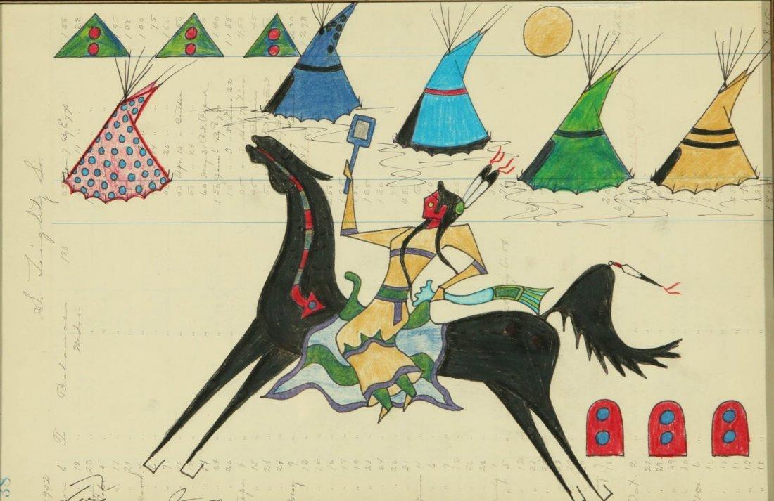 TERRANCE GUARDIPEE (BORN 1968) MIXED MEDIA LEDGER ART