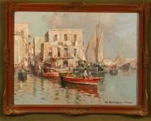 MARIO MARESCA SERRA ITALY 19121990 OIL ON BOARD