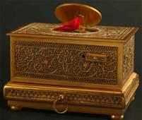 A KARL GRIESBAUM SINGING BIRD MUSIC BOX