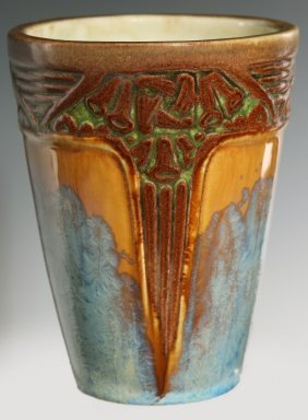 Freres Mougin And Louis Majorelle Art Pottery Vase