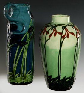 Max Lauger (1864-1952) Art Nouveau Influence Pottery