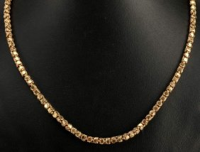 A 36-inch 18k Yellow Gold Hand Made Chain