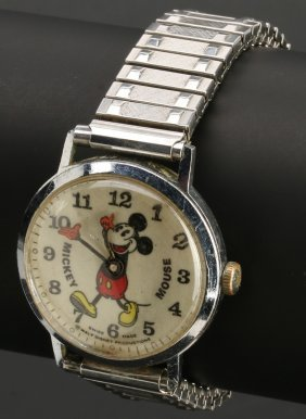 A Collectible Bradley Mickey Mouse Wrist Watch