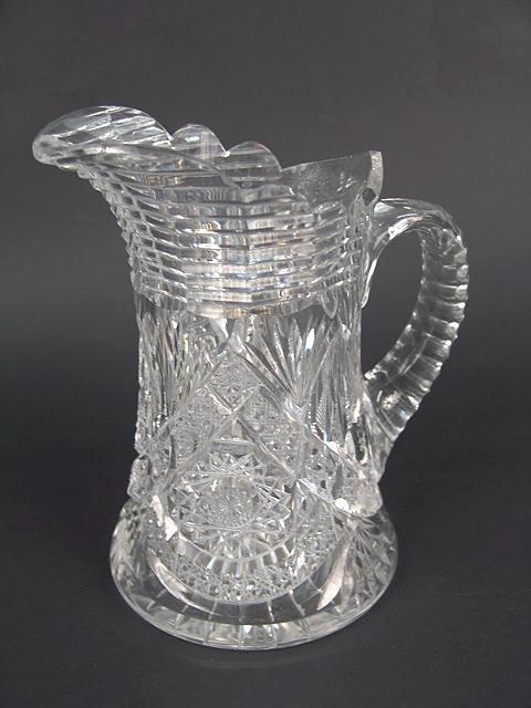 300: BRILLIANT PERIOD CUT GLASS PITCHER ATTR. TO HAWKES