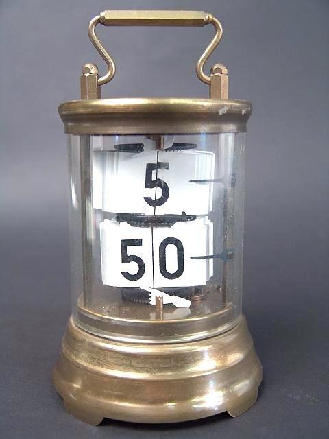310: BRASS CASE WEST GERMAN  NOVELTY CLOCK