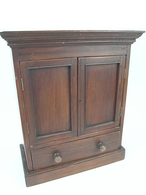 1013: PINE HANGING CABINET WITH DRAWER