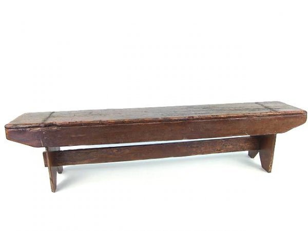 68 inch long narrow primitive pine antique bench 1039 68 inch long narrow primitive pine antique bench geotapseo Image collections