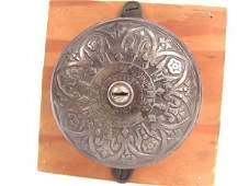 1216 GOOD VICTORIAN CAST IRON ARCHITECTURAL DOOR BELL