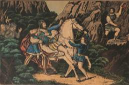 TWO 19TH C CURRIER AND IVES WILLIAM TELL LITHOS