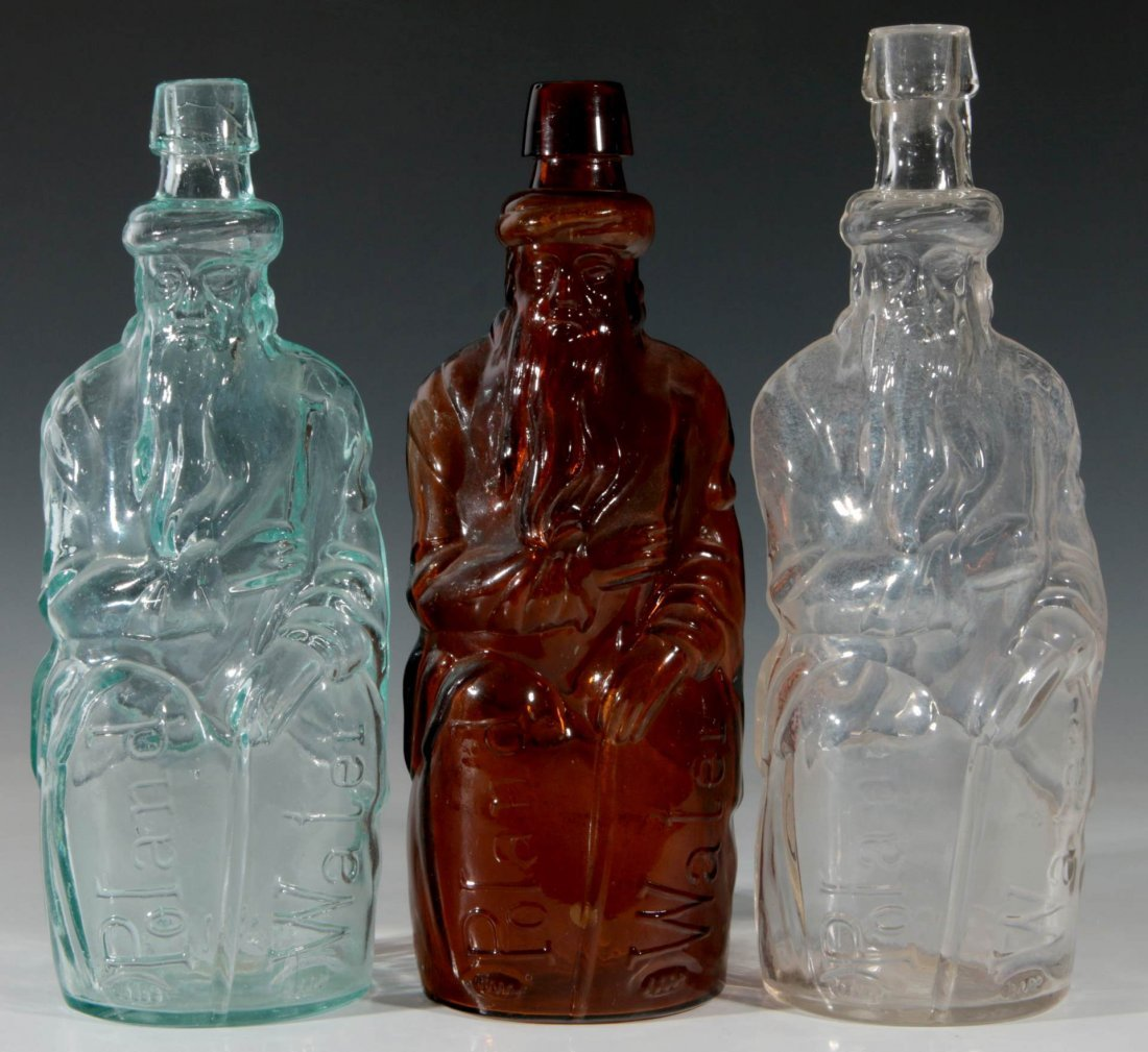 LATE 19TH C. POLAND SPRINGS MINERAL WATERS BOTTLES