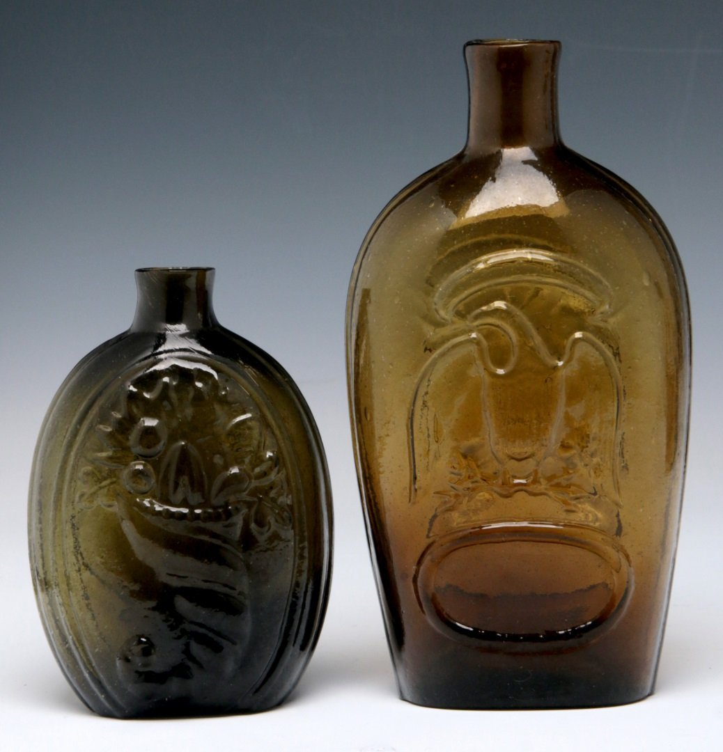 TWO 19TH C. AMERICAN HISTORICAL FLASKS