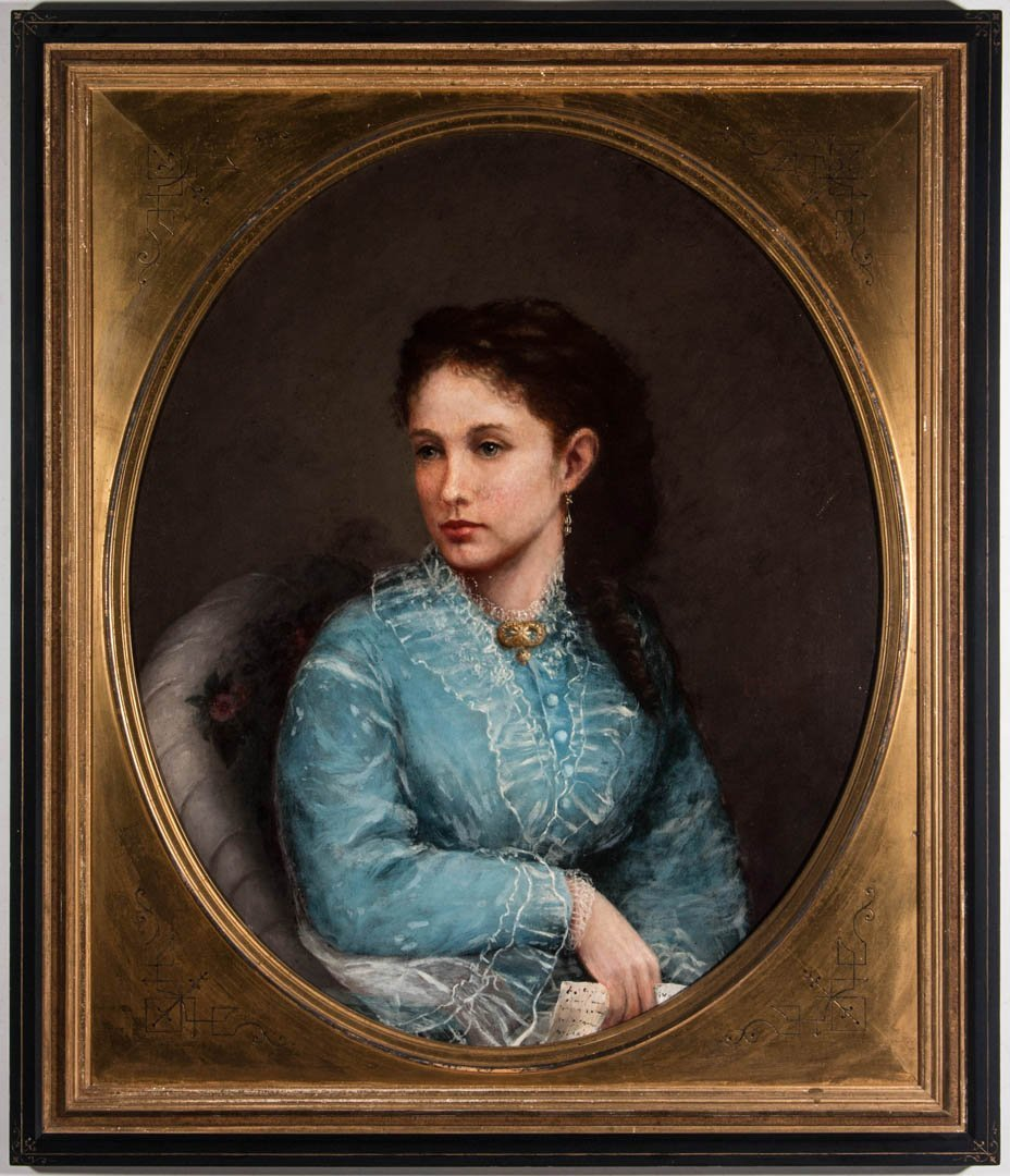 LATE 19TH CENTURY PORTRAIT OF A YOUNG WOMAN