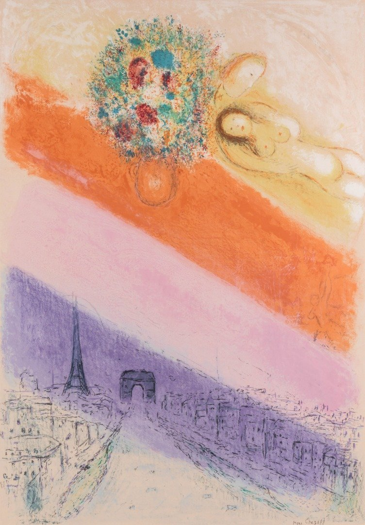 MARC CHAGALL (1887-1985) 1954 PENCIL SIGNED LITHOGRAPH