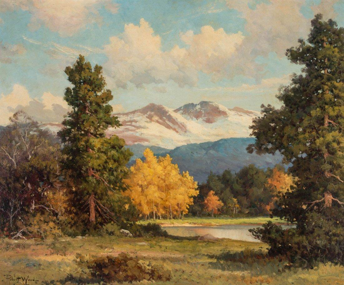 ROBERT WOOD (1889-1979) FALL COLORADO ASPENS O/C