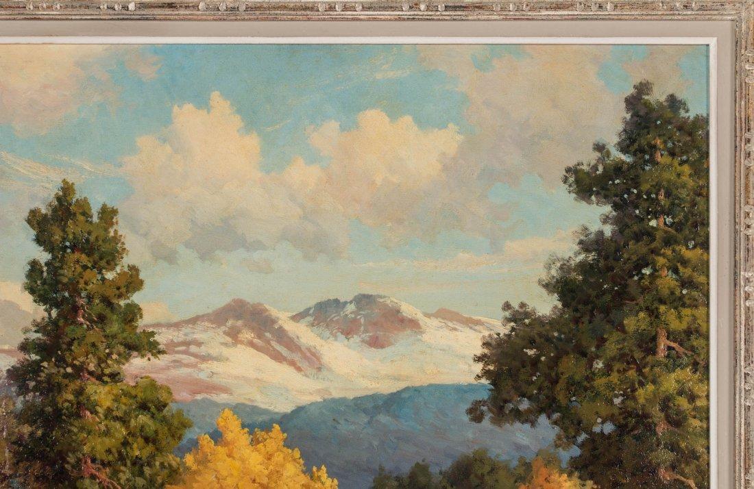 ROBERT WOOD (1889-1979) FALL COLORADO ASPENS O/C - 4