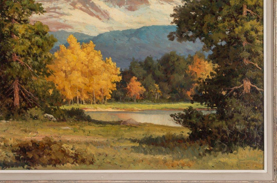 ROBERT WOOD (1889-1979) FALL COLORADO ASPENS O/C - 5
