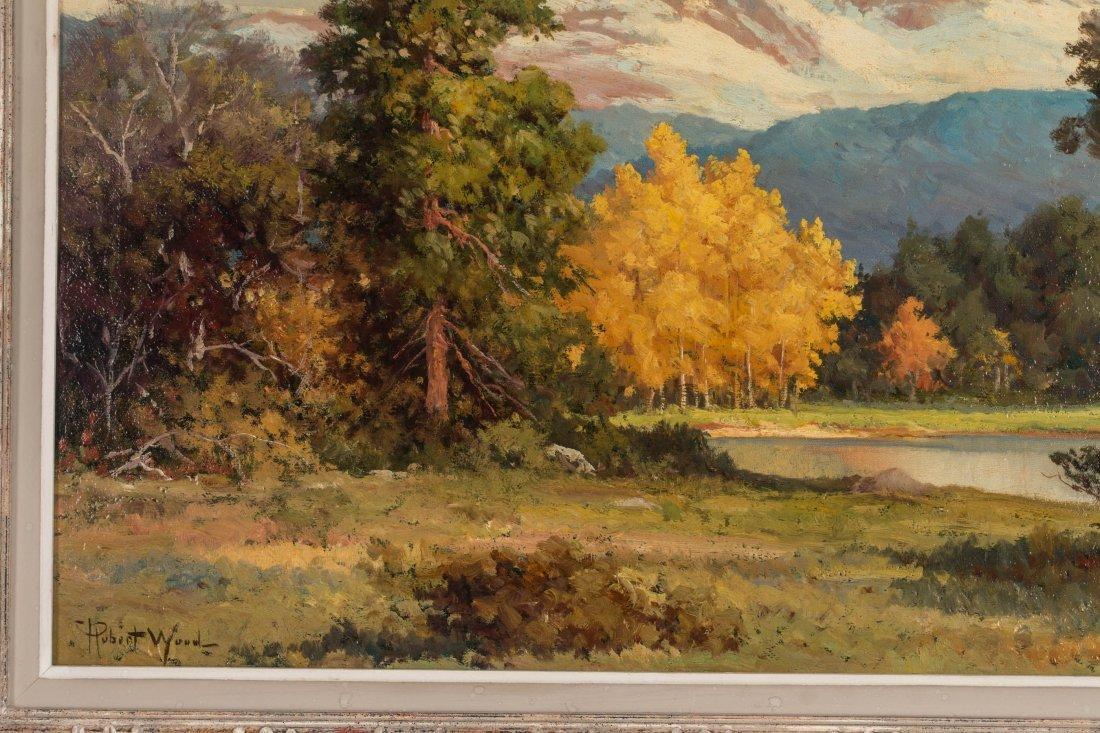 ROBERT WOOD (1889-1979) FALL COLORADO ASPENS O/C - 6