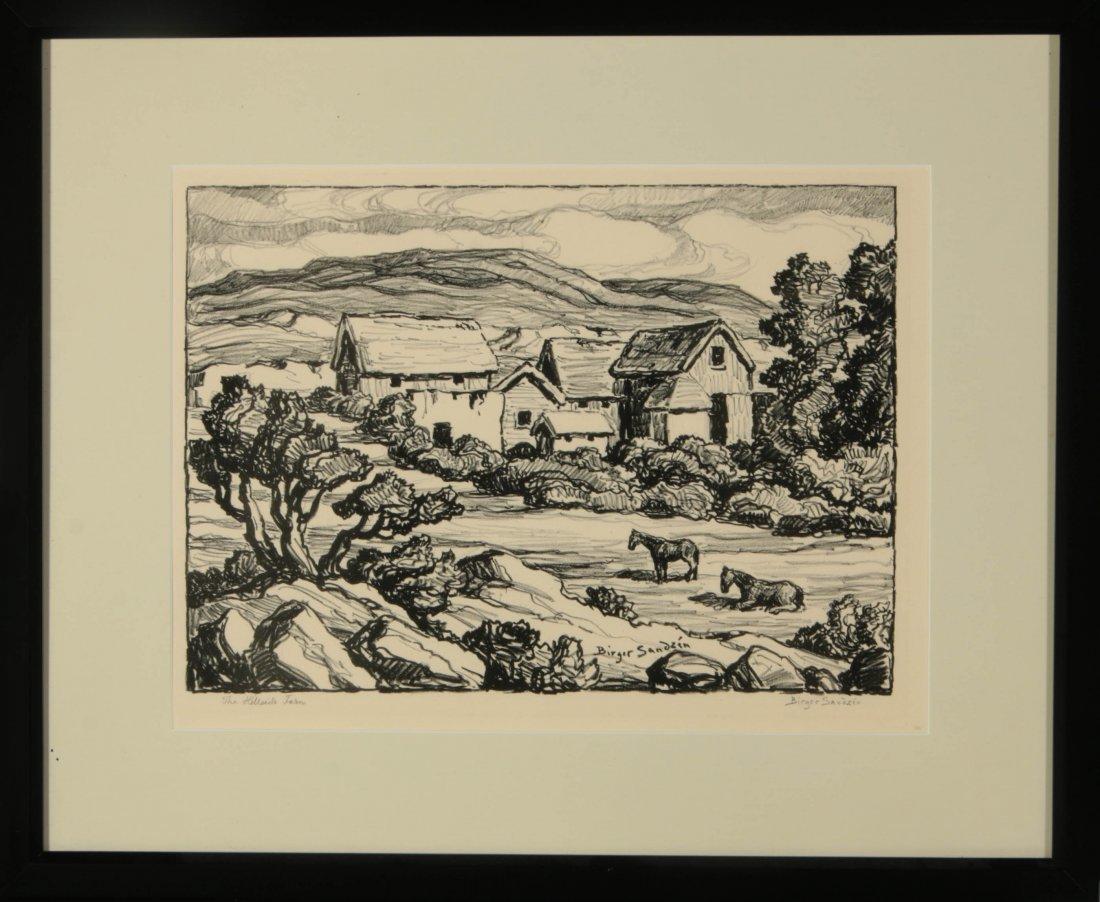 BIRGER SANDZEN (1871-1954) SIGNED LITHOGRAPH - 10
