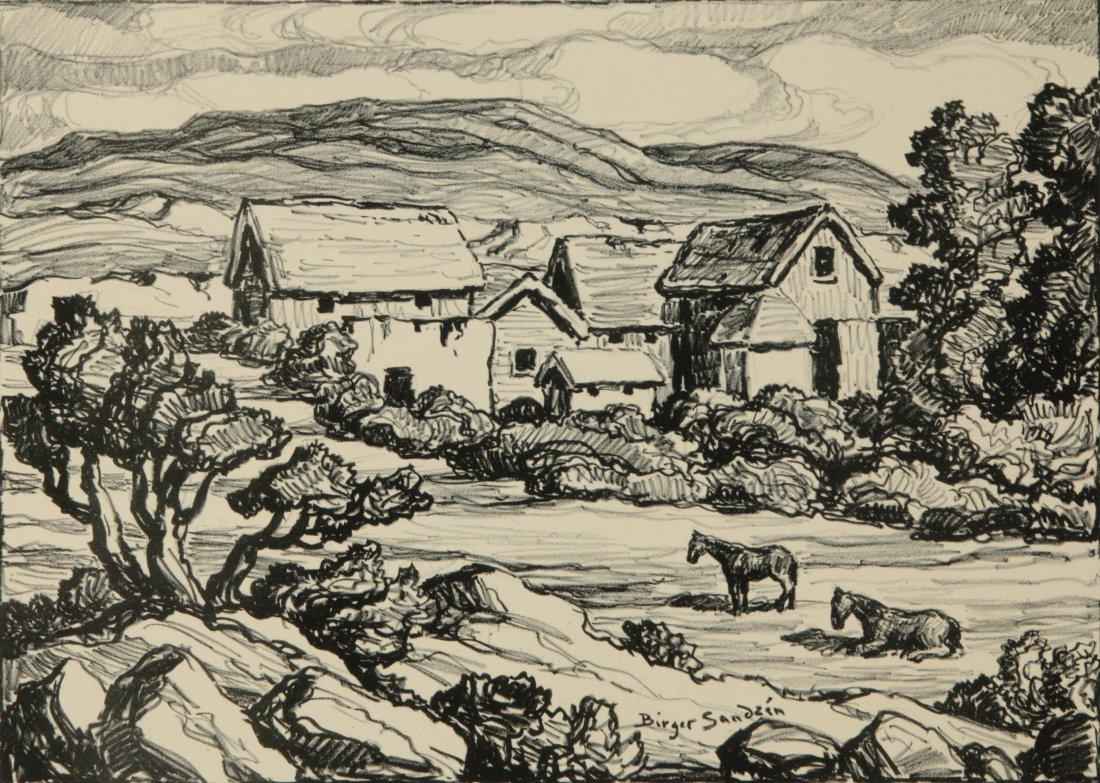 BIRGER SANDZEN (1871-1954) SIGNED LITHOGRAPH