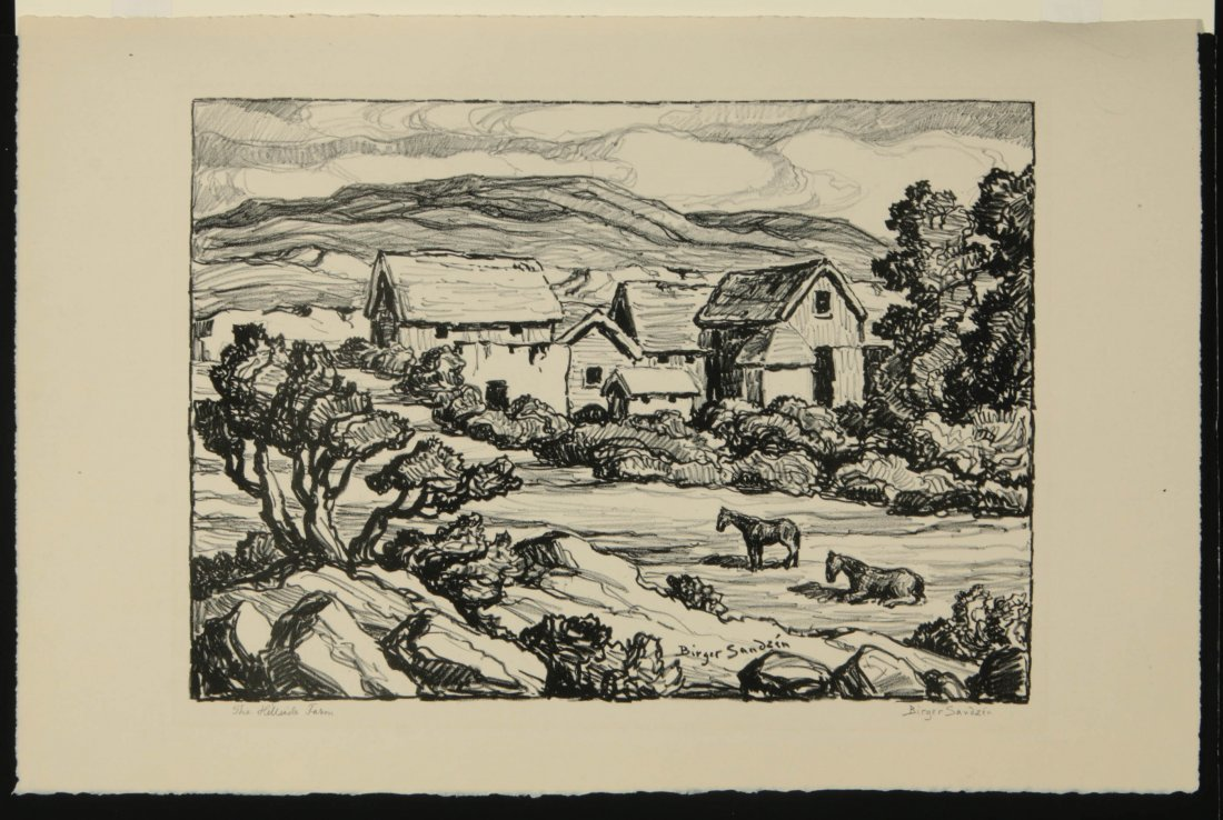 BIRGER SANDZEN (1871-1954) SIGNED LITHOGRAPH - 2