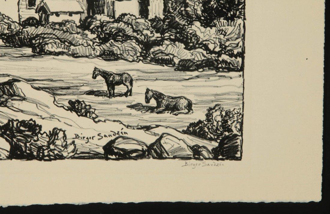 BIRGER SANDZEN (1871-1954) SIGNED LITHOGRAPH - 5