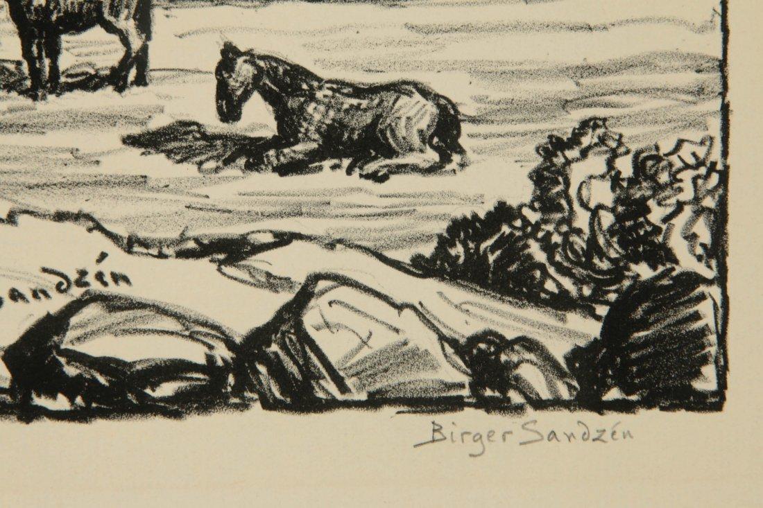 BIRGER SANDZEN (1871-1954) SIGNED LITHOGRAPH - 8