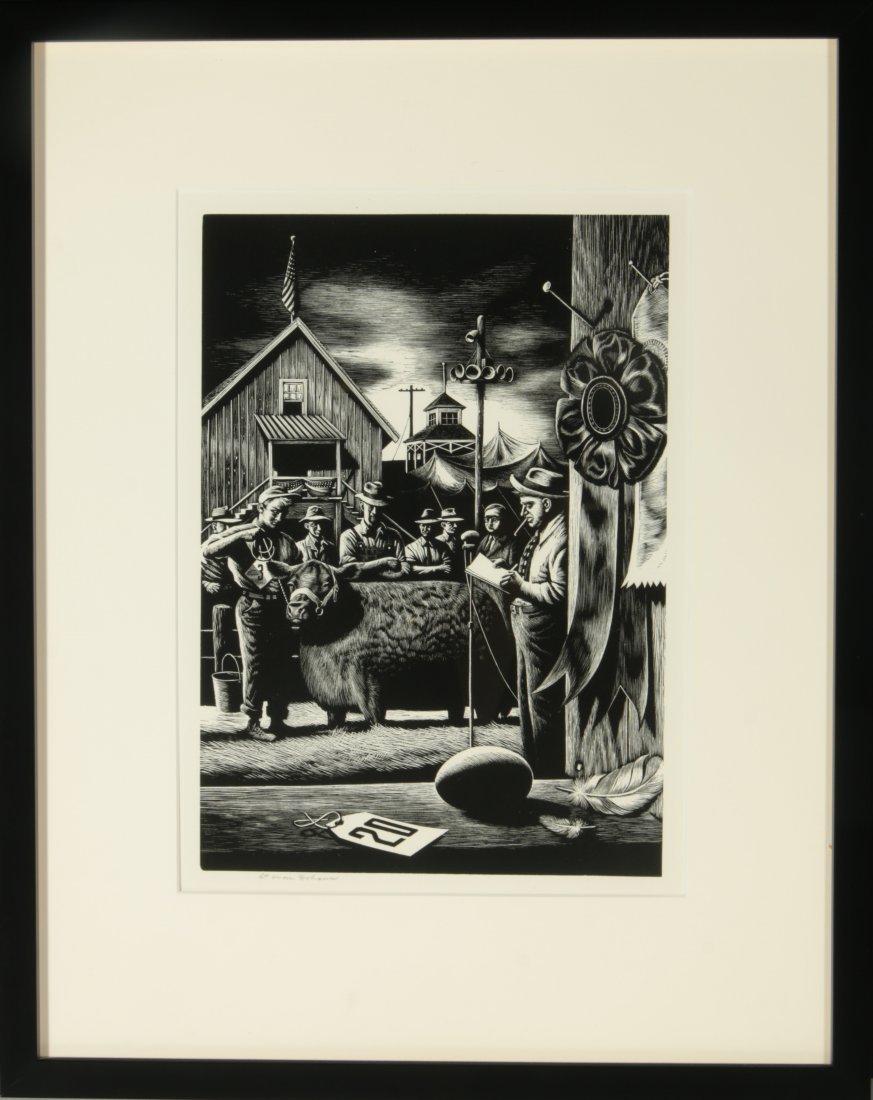 STEVAN DOHANOS (1907-1994) SIGNED WOOD ENGRAVING - 10