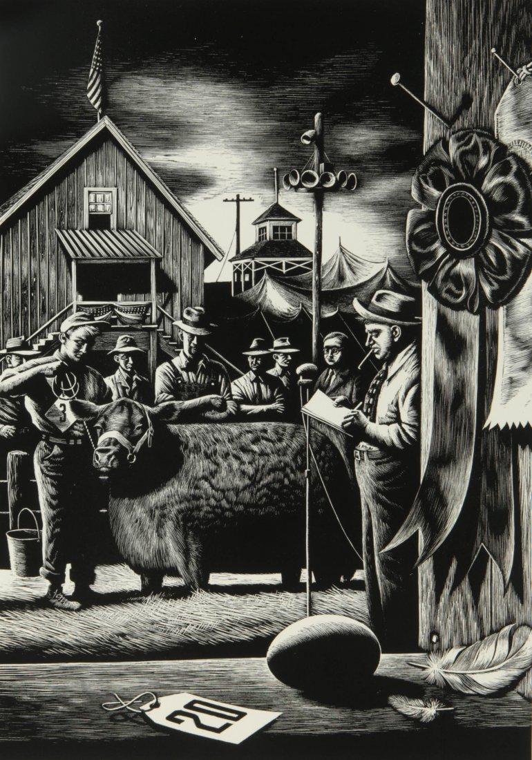 STEVAN DOHANOS (1907-1994) SIGNED WOOD ENGRAVING