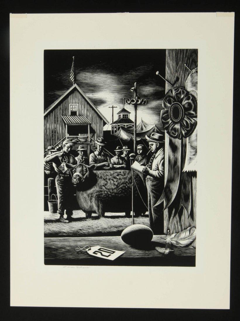 STEVAN DOHANOS (1907-1994) SIGNED WOOD ENGRAVING - 2