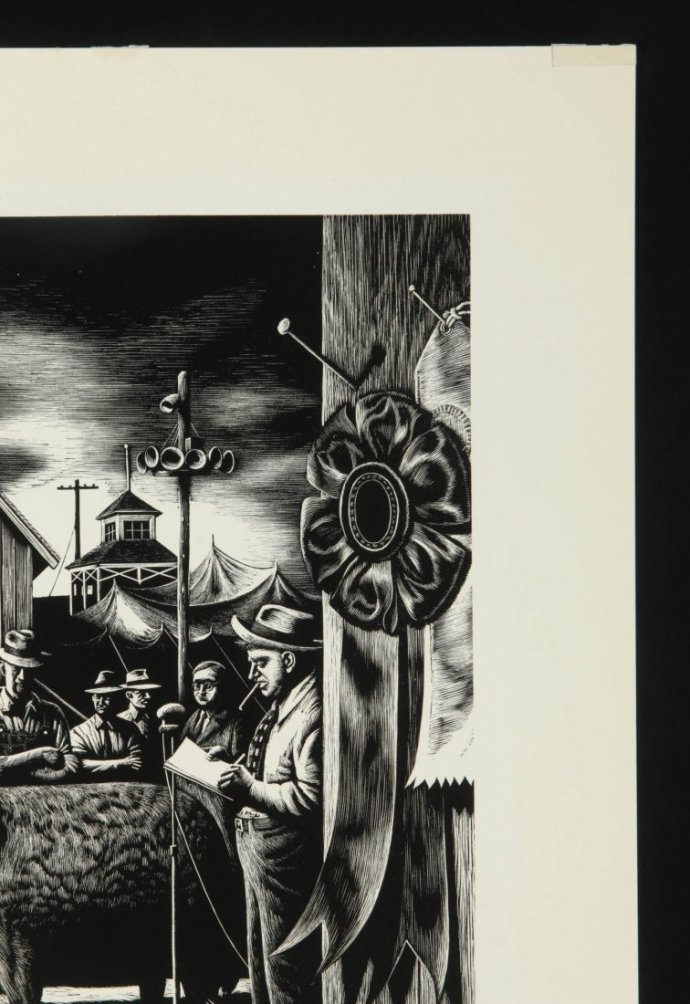 STEVAN DOHANOS (1907-1994) SIGNED WOOD ENGRAVING - 4