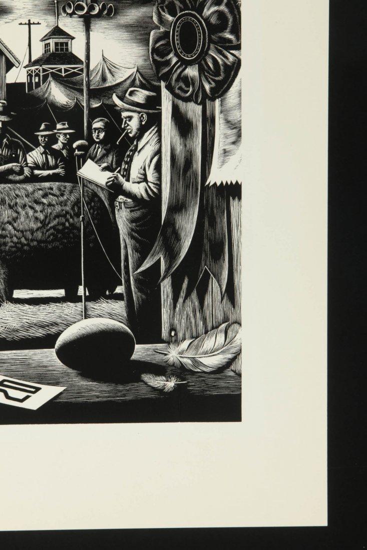 STEVAN DOHANOS (1907-1994) SIGNED WOOD ENGRAVING - 5