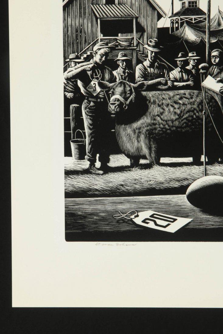 STEVAN DOHANOS (1907-1994) SIGNED WOOD ENGRAVING - 6