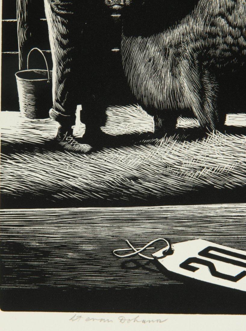 STEVAN DOHANOS (1907-1994) SIGNED WOOD ENGRAVING - 7