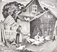 MABEL DWIGHT (1876-1955) PENCIL SIGNED LITHOGRAPH