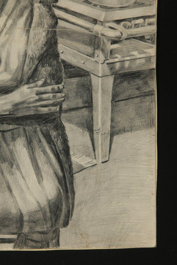 DAVID FREDENTHAL (1914-1958) GRAPHITE SKETCH - 5