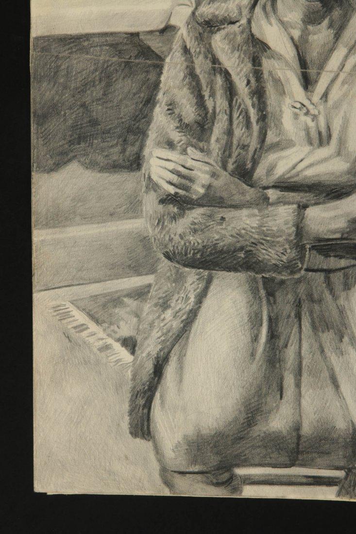 DAVID FREDENTHAL (1914-1958) GRAPHITE SKETCH - 6