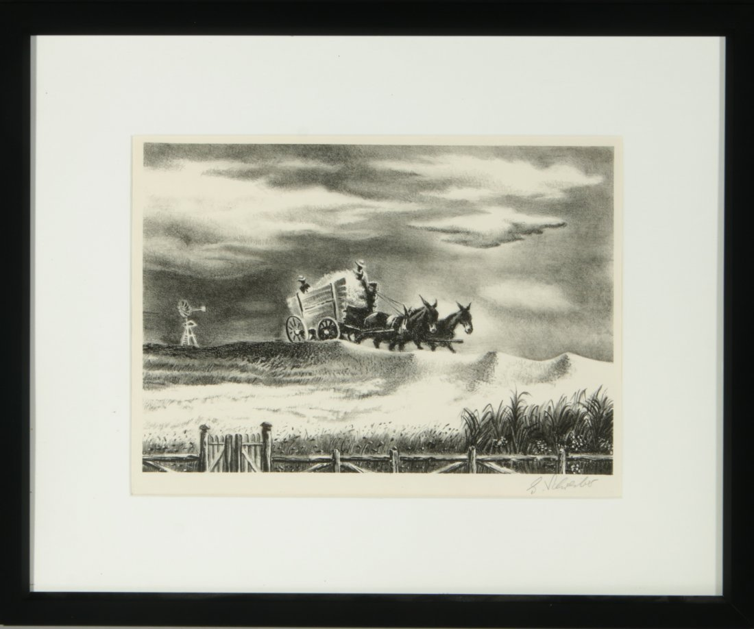 GEORGES SCHREIBER (1904-1977) PENCIL SIGNED LITHOGRAPH - 10