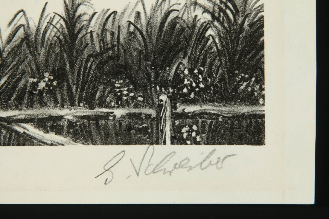 GEORGES SCHREIBER (1904-1977) PENCIL SIGNED LITHOGRAPH - 7
