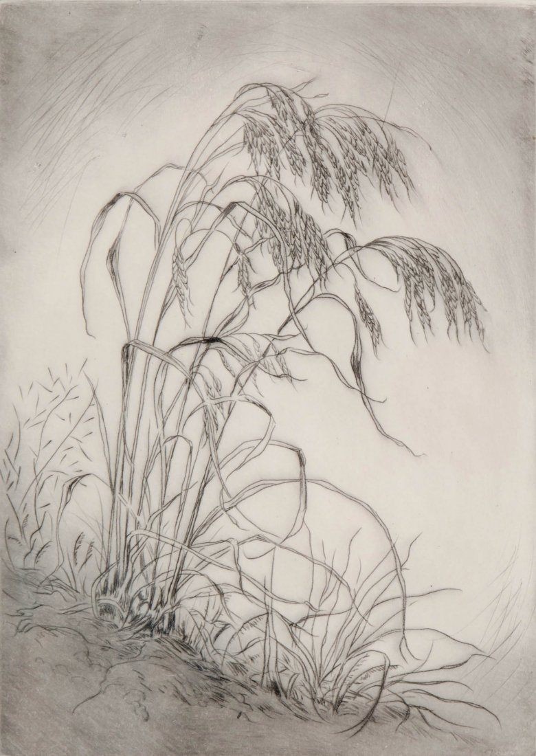 LYMAN BYXBE (1886-1980) PENCIL SIGNED ETCHING