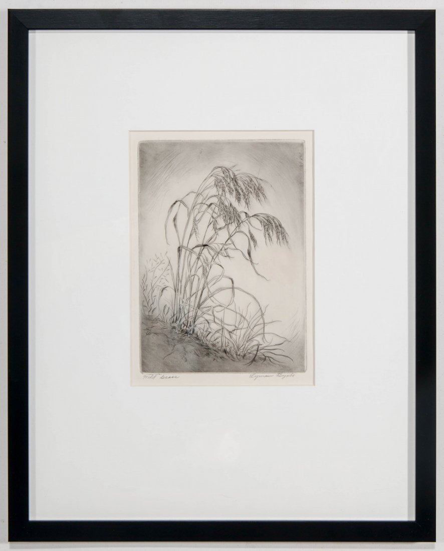 LYMAN BYXBE (1886-1980) PENCIL SIGNED ETCHING - 2