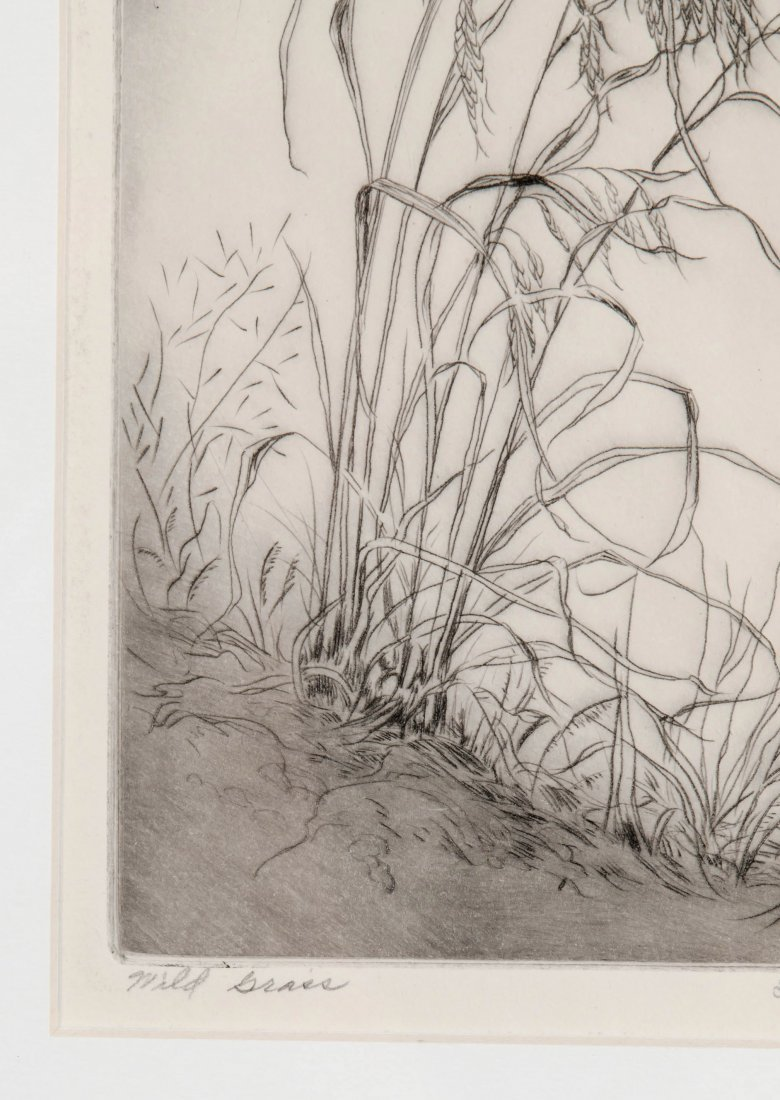 LYMAN BYXBE (1886-1980) PENCIL SIGNED ETCHING - 6