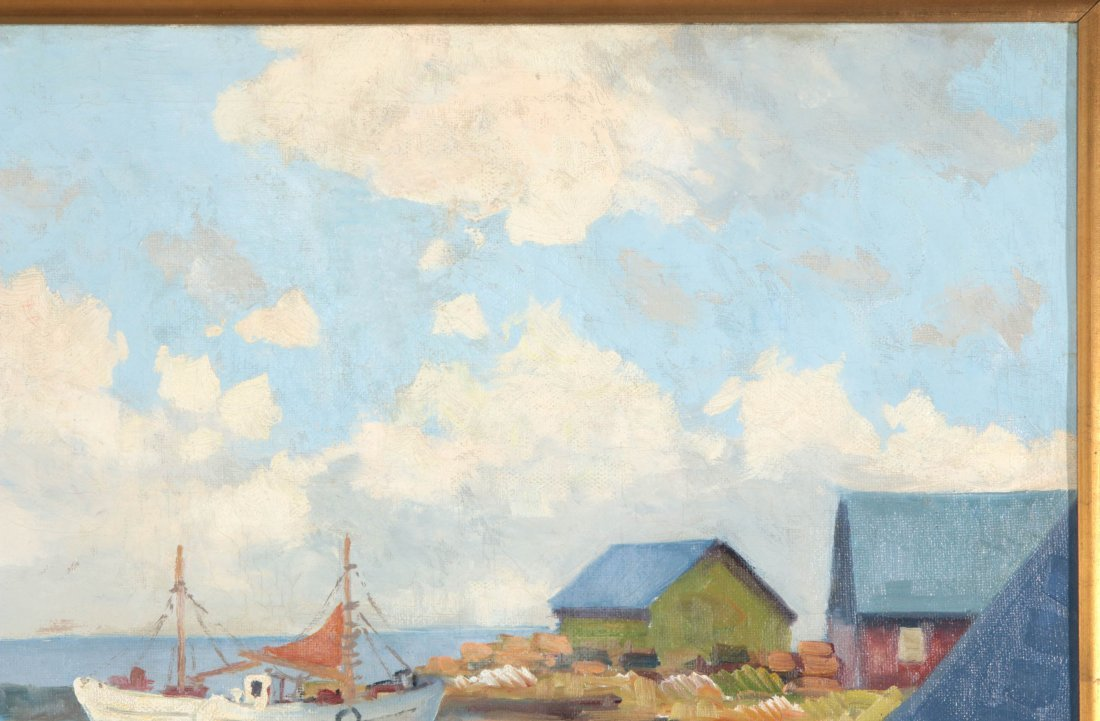 A FINE EARLY TO MID 20TH C. HARBOR SCENE - 4