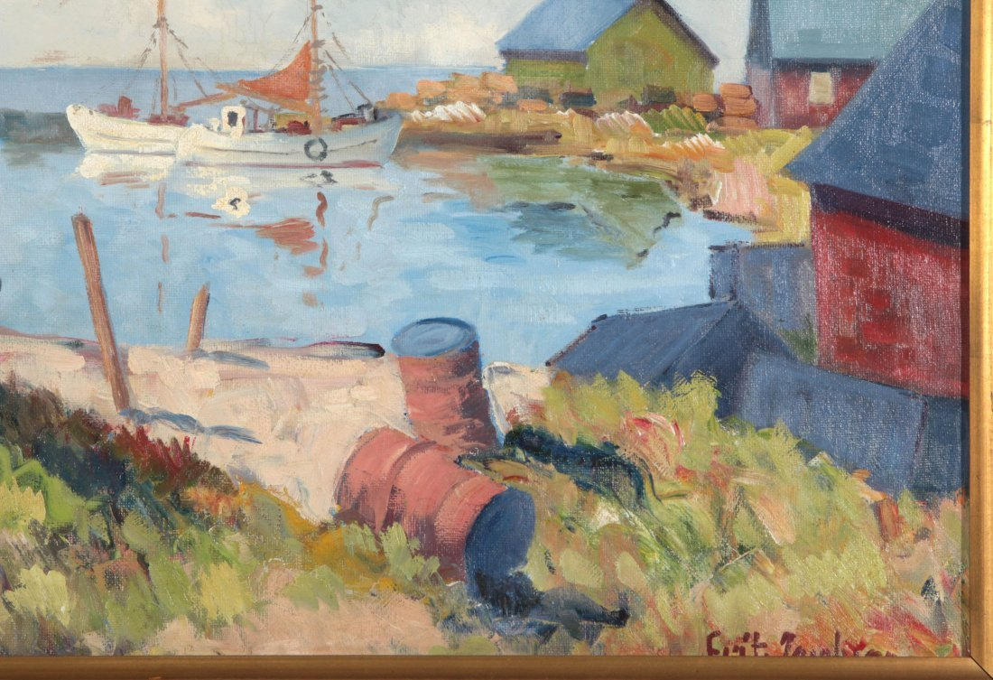 A FINE EARLY TO MID 20TH C. HARBOR SCENE - 5